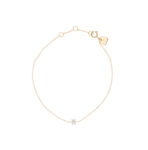 By Charlotte 14k Gold Crystal Lotus Flower Bracelet