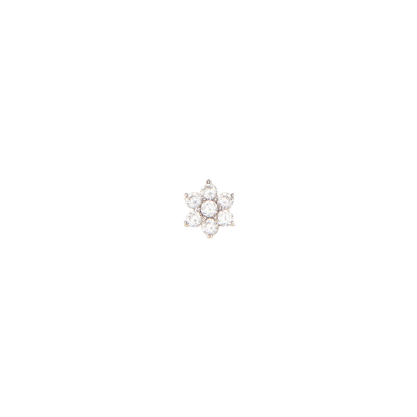 By Charlotte 14k Gold Crystal Lotus Flower Single Earring