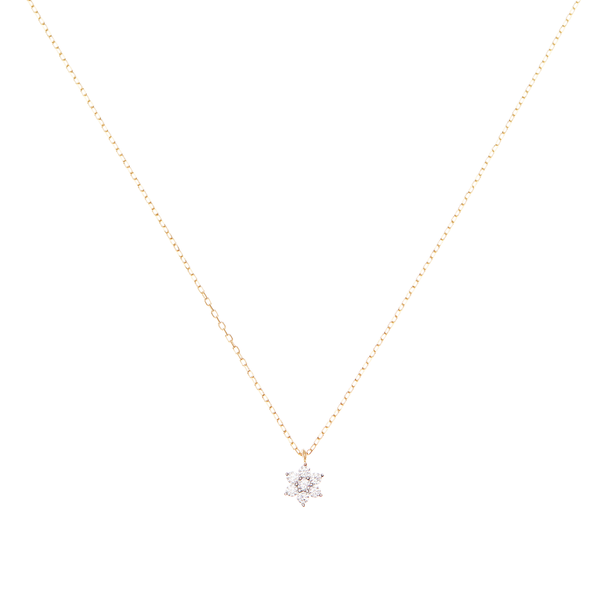 By Charlotte 14k Gold Crystal Lotus Flower Necklace