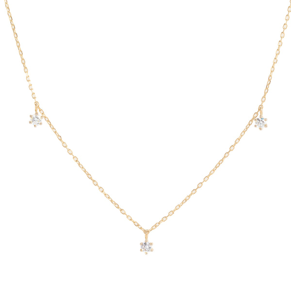 By Charlotte 14k Gold Droplets Diamond Necklace
