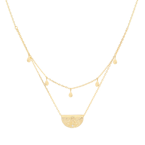 By Charlotte Blessed Lotus Necklace, Gold