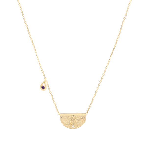 By Charlotte Awaken Your Senses necklace (February), gold