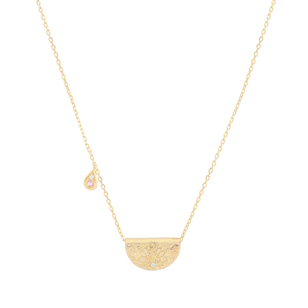 By Charlotte Radiate Your Light necklace (October), gold