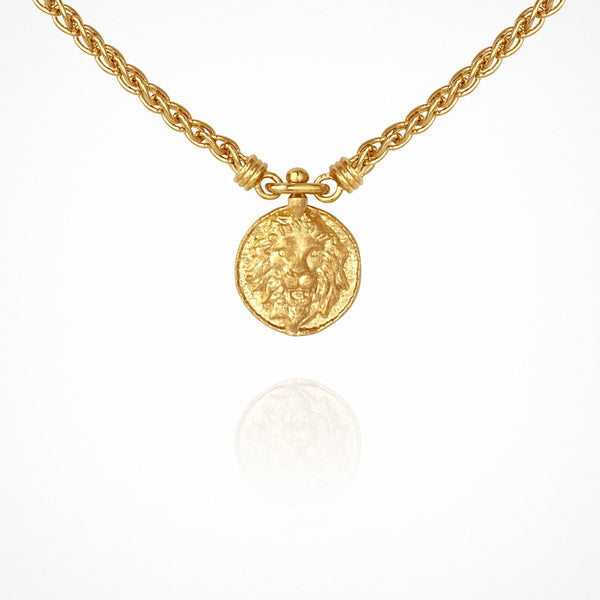 Temple of the Sun Leon Necklace, Gold
