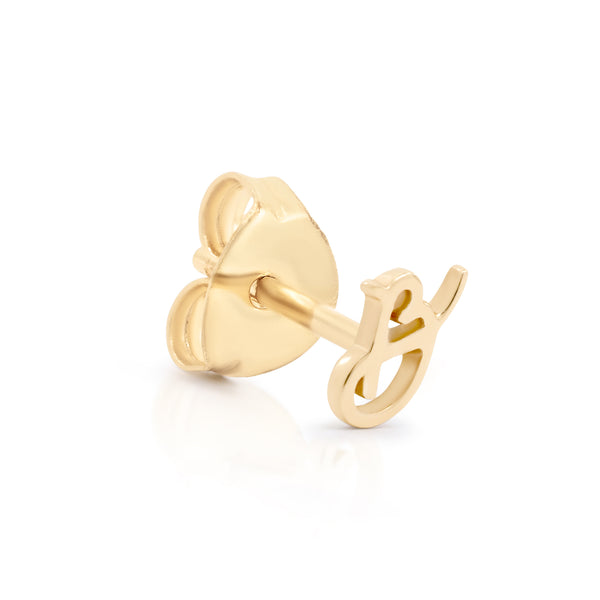 By Charlotte 14k Gold Love Letter Initial stud earring