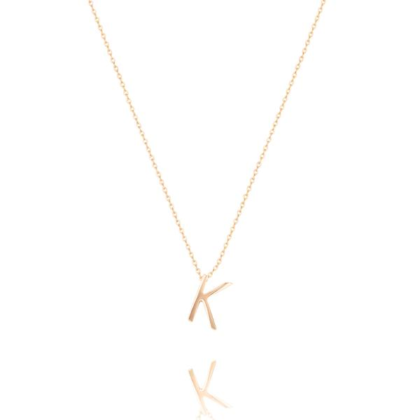 Linda Tahija Letter Necklace, rose gold (A-Z)