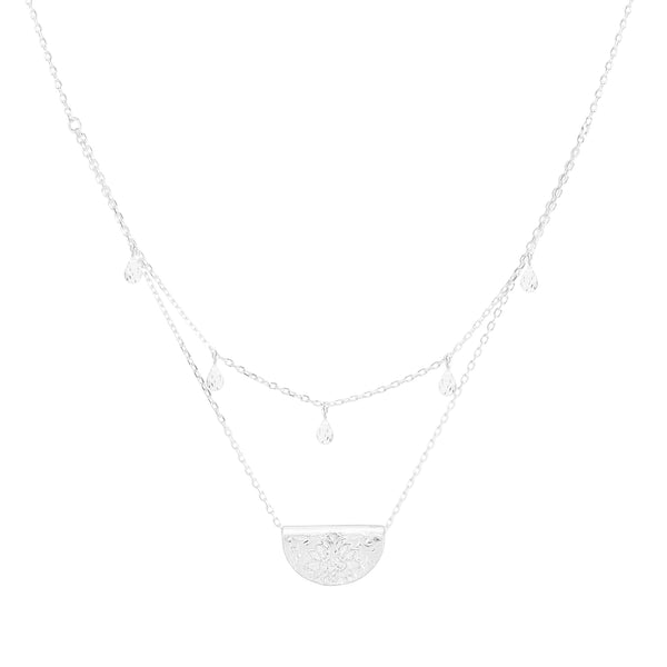 By Charlotte Blessed Lotus Necklace, Silver