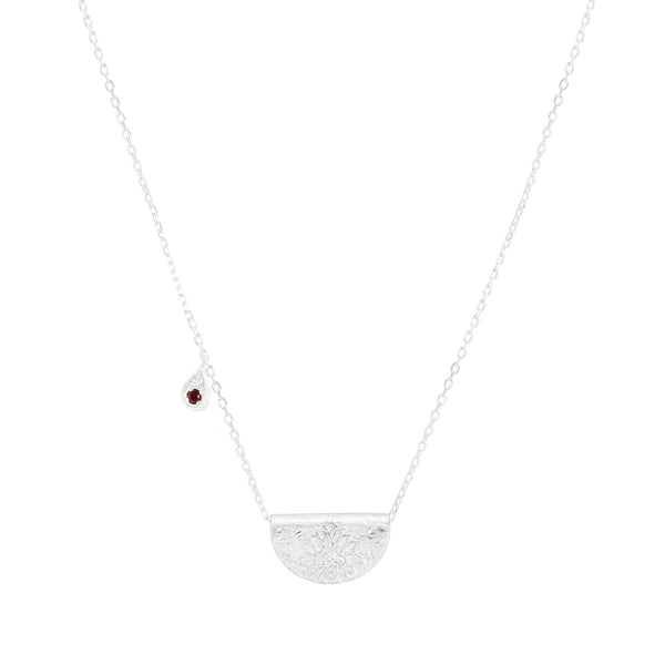 By Charlotte Love and Be Loved necklace (January), silver