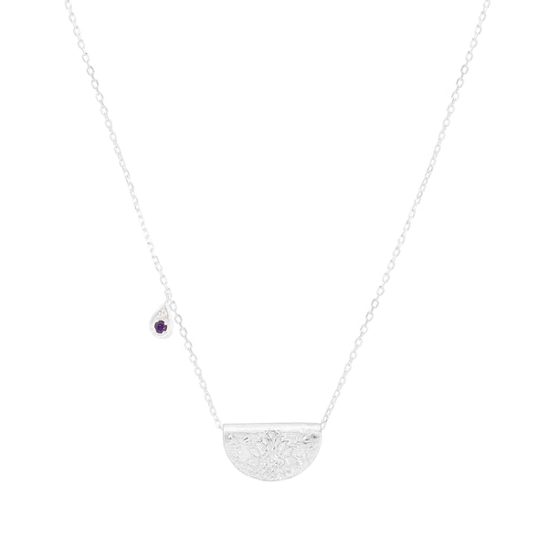 By Charlotte Awaken Your Senses necklace (February), silver