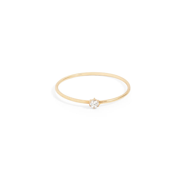 By Charlotte 14k Gold Sweet Droplet Diamond Ring