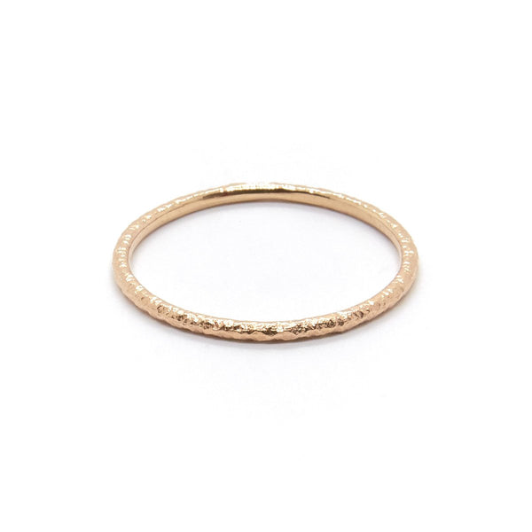 Natalie Marie Fine Faceted Band, Rose Gold