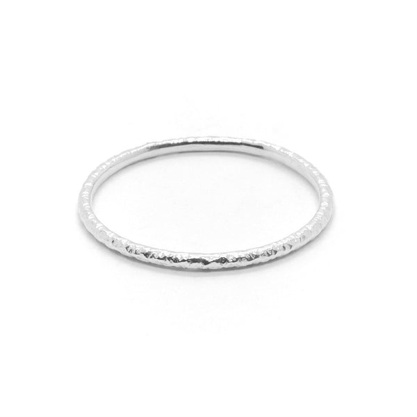 Natalie Marie Heavy Faceted Band, Silver