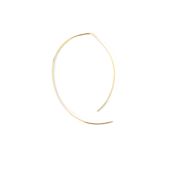 Natalie Marie Oval Ear Hoops, Gold, Rose Gold or Silver