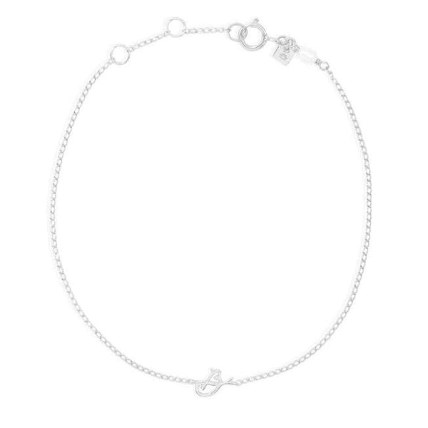 By Charlotte Love Letter Initial bracelet, silver
