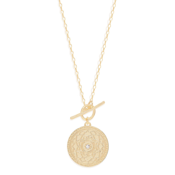 By Charlotte A Thousand Petals Fob Necklace, Gold