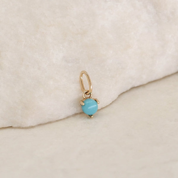 By Charlotte 14k Gold December Turquoise Birthstone Pendant