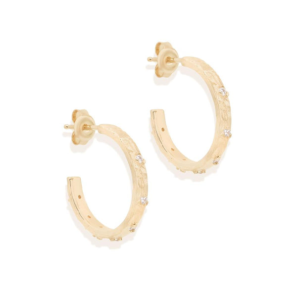 By Charlotte Enlightened Hoops: Gold/ Rose Gold/ Silver
