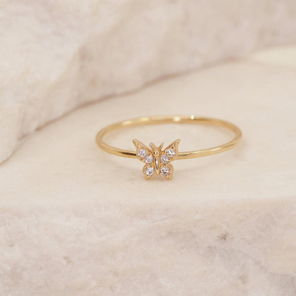 By Charlotte 14k Gold Fly With Me Ring