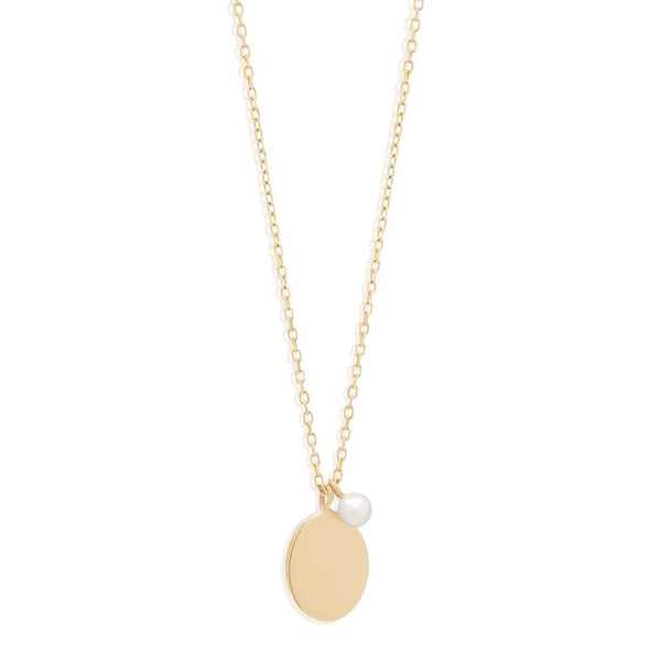 By Charlotte 14k Gold Peaceful Moon Necklace