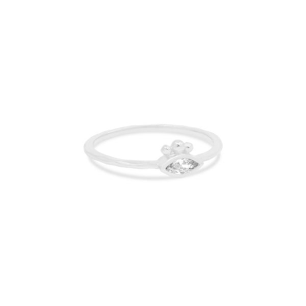 By Charlotte Trust Your Intuition Ring, Silver