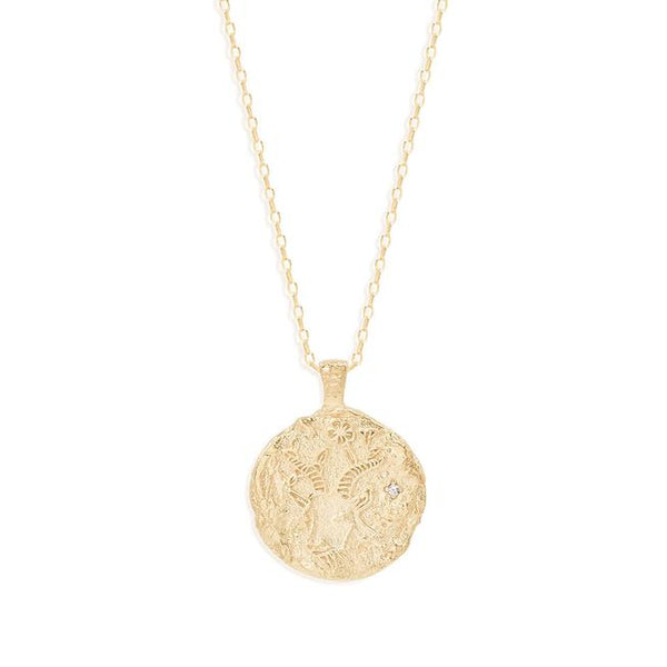By Charlotte Capricorn Zodiac Necklace: Gold/ Rose Gold/ Silver