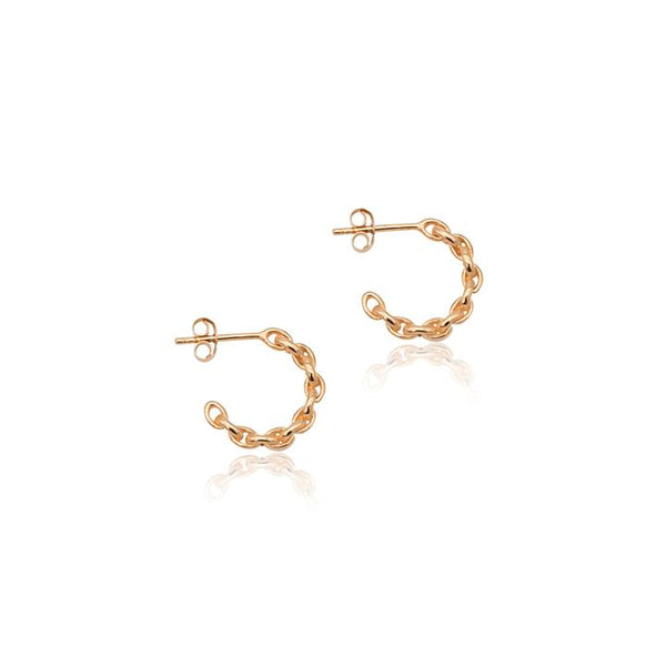 Linda Tahija Chain Hoop Earrings, Rose Gold