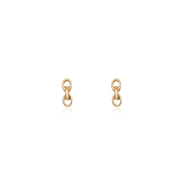 Linda Tahija Chain Stud Earrings, Rose Gold