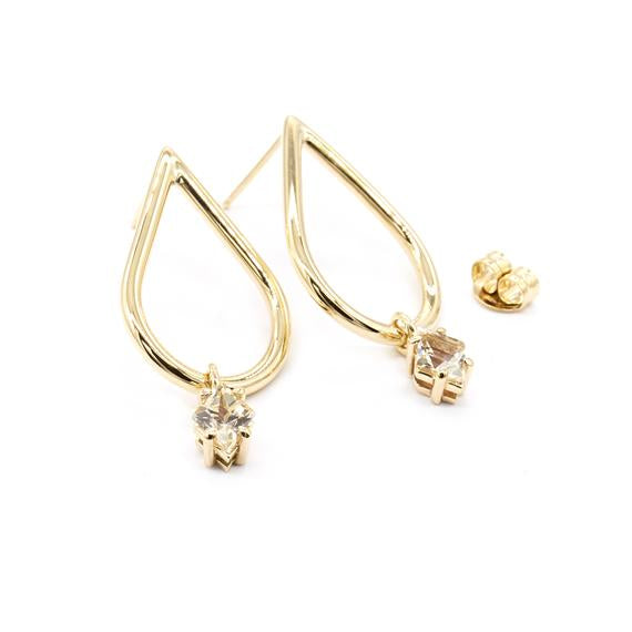 Natalie Marie Dena Sunstone Earrings, Gold