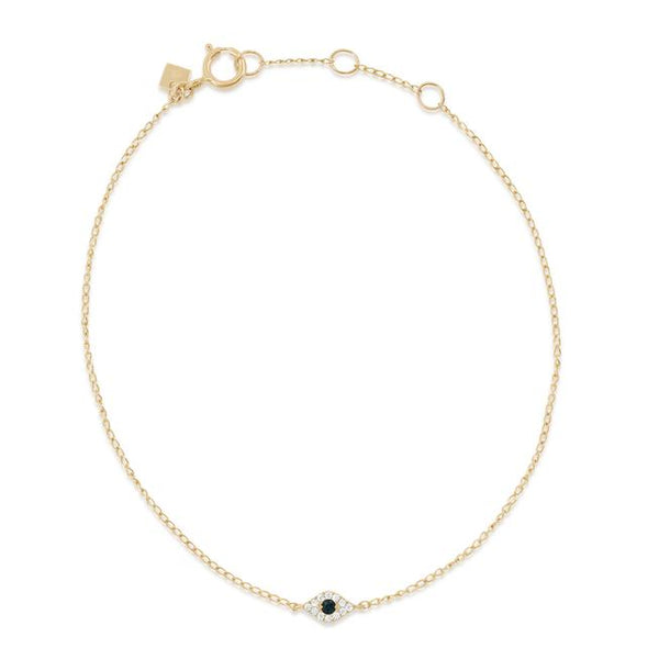By Charlotte 14k Gold Evil Eye Bracelet