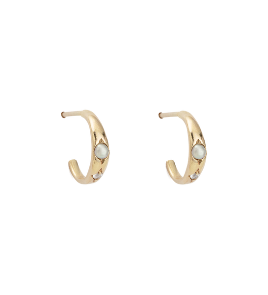 Kirstin Ash First Light Hoop earrings, 9k Gold