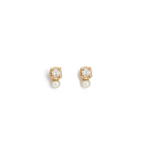 Kirstin Ash First Light Stud earrings, 9k Gold