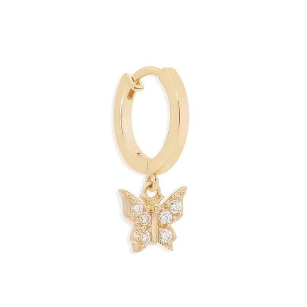 By Charlotte 14k gold Fly With Me Single Hoop Earring