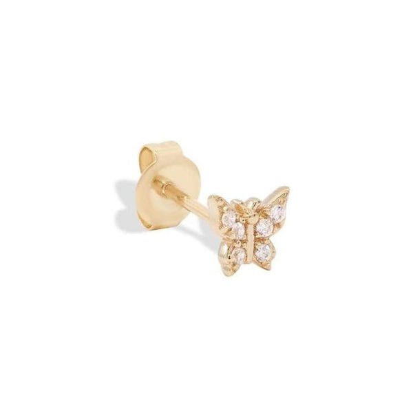 By Charlotte 14k gold Fly With Me Single Stud Earring