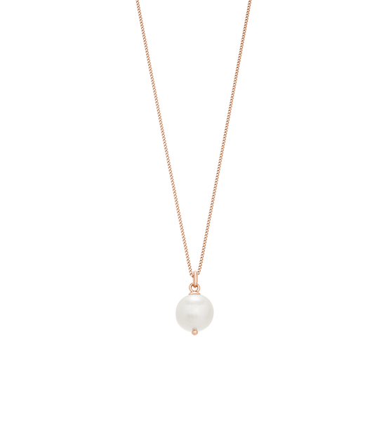 Kirstin Ash Large Freshwater Pearl Necklace, Rose Gold