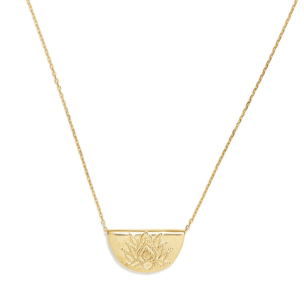 By Charlotte Lotus Necklace gold