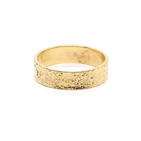 Natalie Marie Heavy Naum Stacking Ring, gold