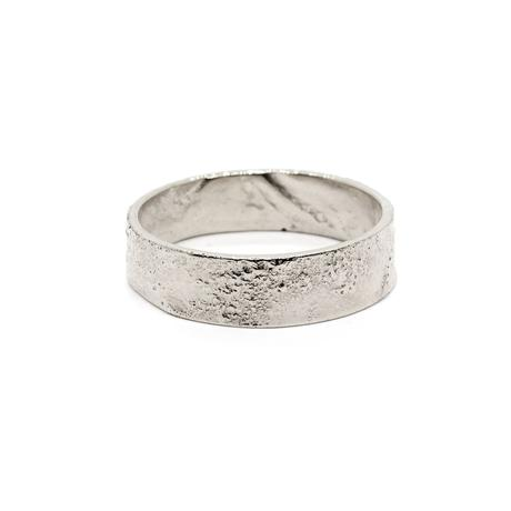 Natalie Marie Heavy Naum Stacking Ring, silver