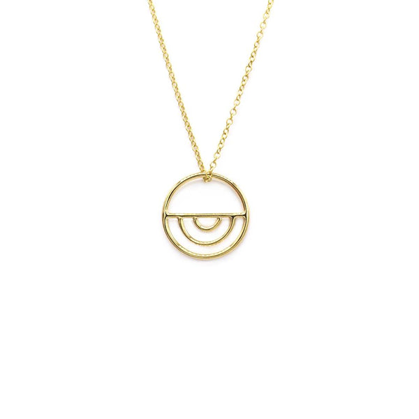Natalie Marie Indigo Necklace, gold