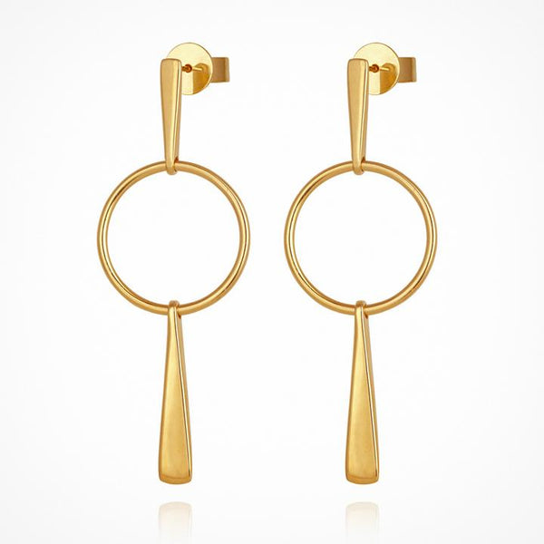 Temple of the Sun Iola Earrings, Gold