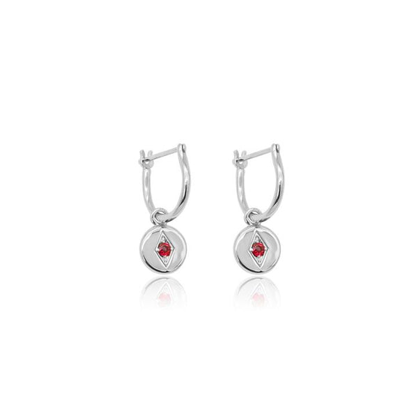 Linda Tahija Jean Hoop Earrings, Silver