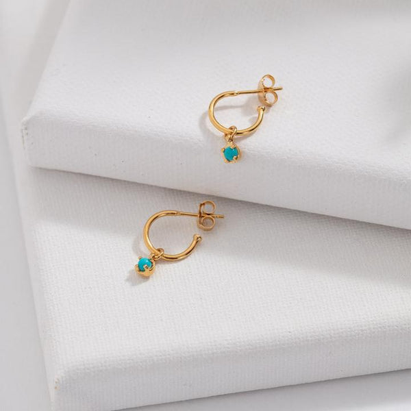 Kerry Rocks Winkie Hoops, Turquoise, Gold