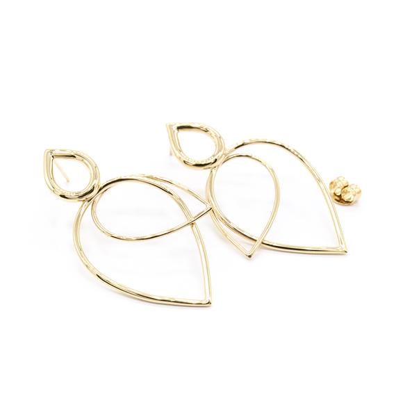 Natalie Marie Leotie Earrings, gold