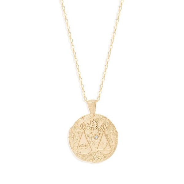 By Charlotte Libra Zodiac Necklace: Gold/ Rose Gold/ Silver