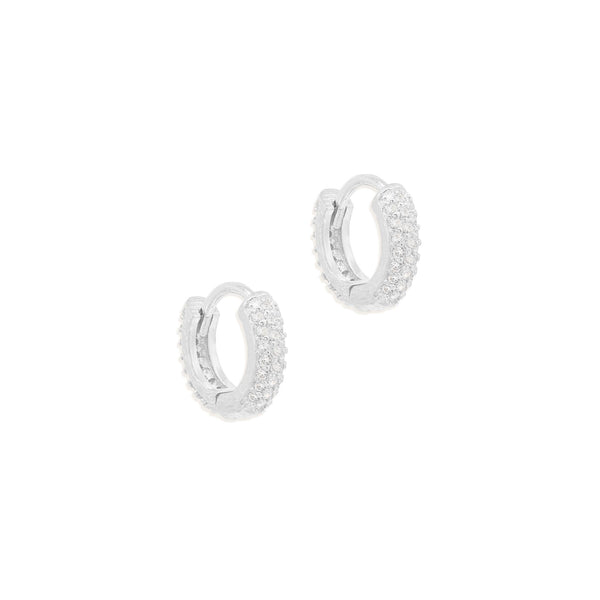 By Charlotte Light Catcher Hoops, Silver