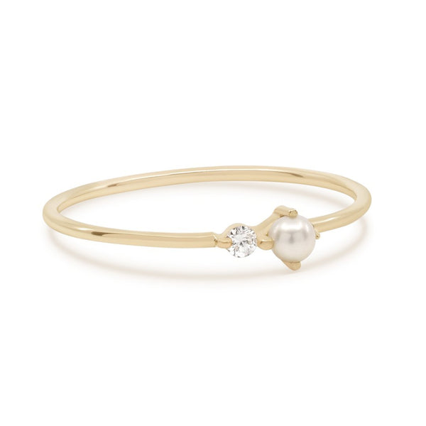 By Charlotte 14k Gold Light of the Moon Diamond Ring
