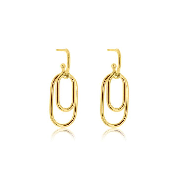 Linda Tahija Convertible Linked Earrings, Gold/ Rose Gold/ Silver