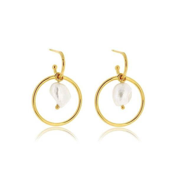 Linda Tahija Convertible Pearl Earrings, Gold/ Rose Gold/ Silver
