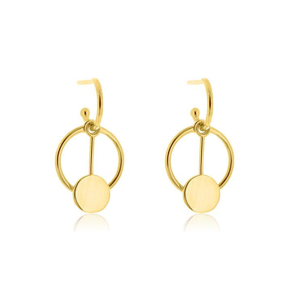 Linda Tahija Convertible Pendulum Earrings, Gold/ Rose Gold/ Silver