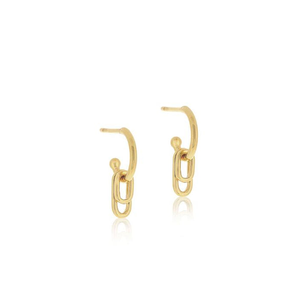 Linda Tahija Ellipse Hoop Earrings, Gold