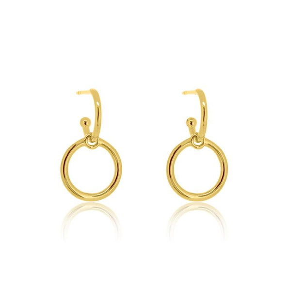 Linda Tahija Halo Base Hoop Earrings, Gold/ Silver